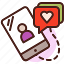 life, love, messaging, partner, sibling icon