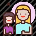 girl, life, love, mom, partner, sibling icon