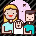 boy, life, love, newborn, partner, sibling icon