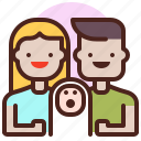 life, love, newborn, partner, sibling icon