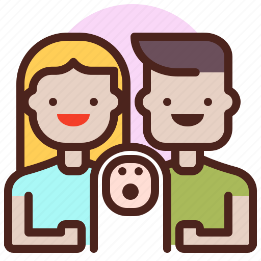 life, love, newborn, partner, sibling icon