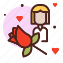 life, love, partner, rose, sibling icon