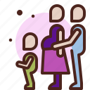 family, life, love, partner, sibling, withchild icon