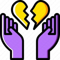 broken, family, heart, home, people icon