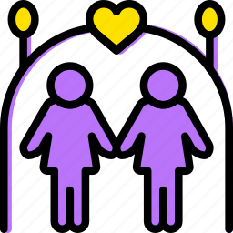 family, home, lesbian, marriage, people icon