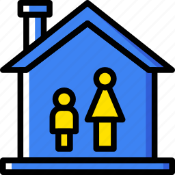 family, home, mother, people, single icon