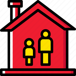 family, father, home, people, single icon