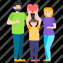 family love, family members, fatherhood, happy family, motherhood icon