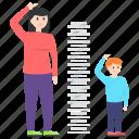 body height, height growth, height measurement, human height, motherhood icon