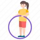 hula hoop, olympic game, outdoor game, physical game, ring game icon