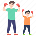 boxer, boxing game, olympics boxing, olympics game, punching bag icon