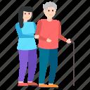 grandma, grandmother care, grandmother love, grandparents, granny, senior citizen icon