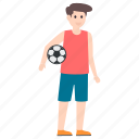 football game, football player, male player, soccer player, sports boy icon