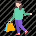 buying, girl shopping, girl spending, shopping concept, woman shopping icon