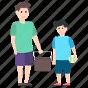 child entertainment, childcare, fatherhood, outdoor sports, picnic icon