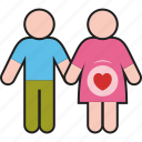 couple, female, male, man, people, pregnant, woman icon