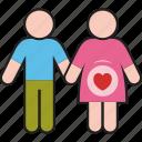 couple, man, pregnant, woman, female, male, people