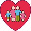 children, family, father, heart, love, mother, parents