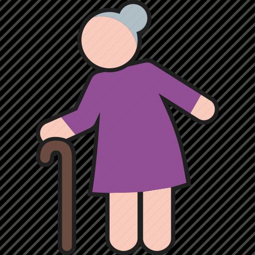 female, grandma, grandmother, lady, old, woman icon
