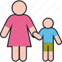boy, family, kid, mother, son, woman