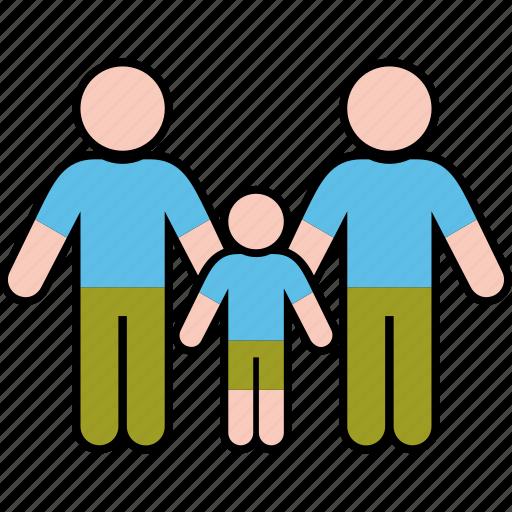 boy, family, gender, men, parents, same icon