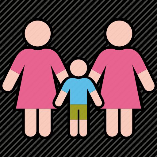 boy, family, gender, parents, same, women icon