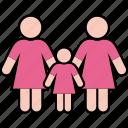 family, gender, girl, parents, same, women