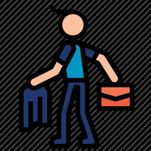 businessman, walking icon