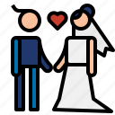 couple, love, wedding icon