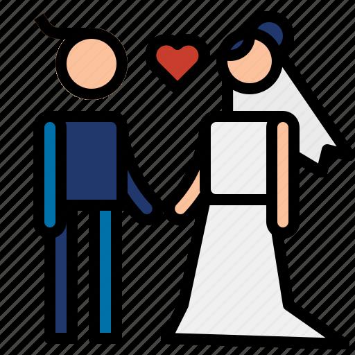 couple, love, wedding icon