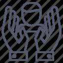 pray, profile, user, valuable, value icon