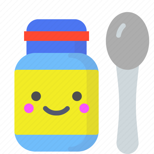 baby, biscuits, food, spoon icon