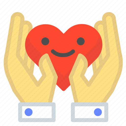 care, hand, hands, heart, holding, love, romance icon