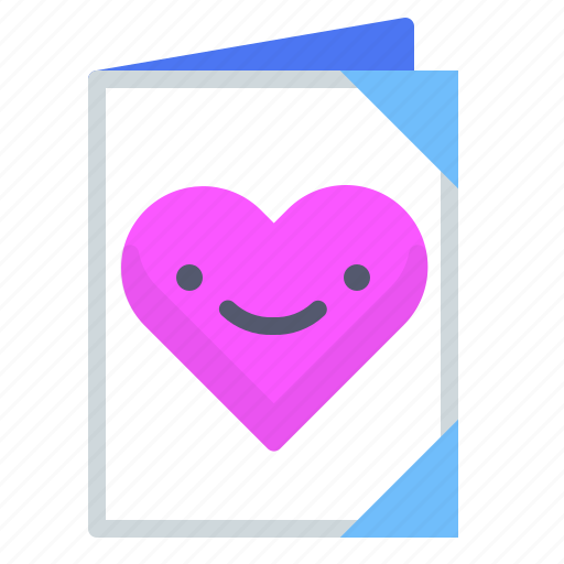 book, heart, journal, memories, notes icon