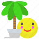 holiday, palm, plant, smile, tree, vacation icon