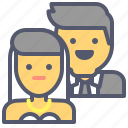 couple, family, holiday, marriage, members, wedding icon