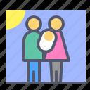 kid, members, newborn, photo, picture icon