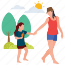 baby and mother, baby care, baby playing, motherhood, mothers love, picnic time icon