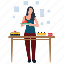 food preparation, homemade food, hot meal, hygienic food, meal ready icon