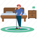 domestic cleaning, home cleaning, household chores, household services, housekeeping, room cleaning icon