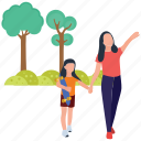 family fun, family time, holding skateboard, outdoor walking, parenthood, picnic time icon