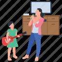 indoor fun, motherhood, musical training, singing competition, singing fun icon