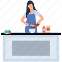 homemade food, hot meal, hygienic food, meal ready, preparing food icon