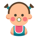 cute, daughter, family, baby, cartoon, kid icon