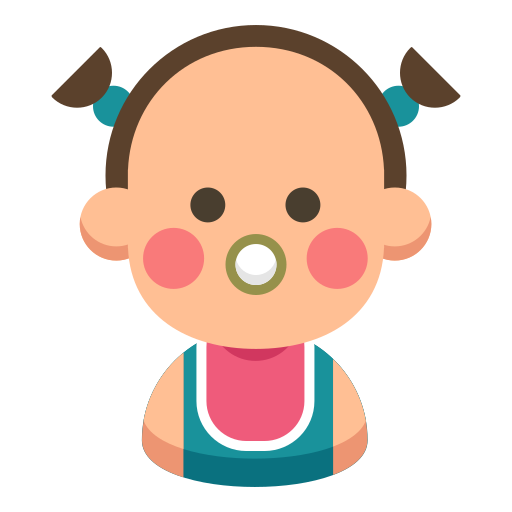 Baby, cartoon, cute, daughter, family, kid icon - Free download
