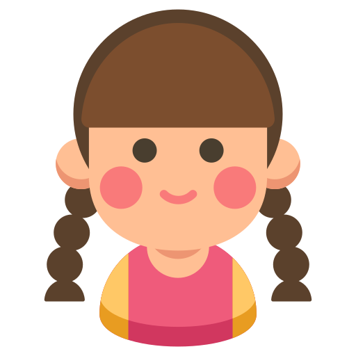 cartoon, child, girl, kid, sister, young icon