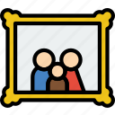 family, home, people, portrait icon