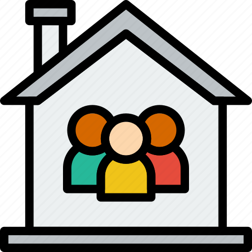 family, home, people icon