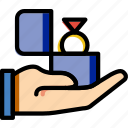 engagement, family, give, home, people, ring icon