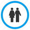 adult pair, couple, date, dating, love, lovers, partners icon